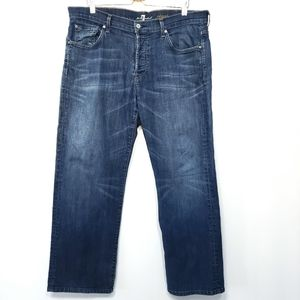7 for All Mankind Button Fly Relaxed Jeans 38